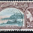 TRINIDAD AND TOBAGO - CIRCA 1953: A stamp printed in Trinidad and Tobago shows Irvine Bay, circa 1953 — Stock Photo