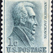Stock Photo: UNITED STATES - CIRC1962: stamp printed in USshows Andrew Jackson (1767-1845) - Seventh President, circ1962