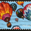 Stock Photo: UNITED STATES OF AMERICA - CIRCA 1970: A stamp printed in USA shows hot air balloons, circa 1970s