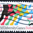 UNITED STATES - CIRCA 1993: stamp printed in USA, shows heroes from sportsmen, world university games Buffalo, circa 1993 - Stock Photo