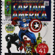 Stock Photo: UNITED STATES - CIRCA 2007: stamp printed in USA shows Captain America, circa 2007