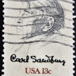 UNITED STATES OF AMERICA - CIRCA 1978 : stamp printed in USA shows Picture of Carl Sandburg, by William A. Smith, circa 1978 — Stock Photo