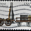 USA - CIRCA 1980: A stamp printed in USA shows image of the dedicated to The Best Friend of Charleston was a steam-powered railroad locomotive, circa 1980. — Stock Photo