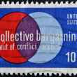 USA - CIRCA 1975 : A stamp printed in the USA shows Collective Bargaining: Out of Conflict … Accord, circa 1975 — Foto Stock