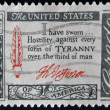 USA - CIRCA 1960 : A stamp printed in the USA shows Credo I have sworn...Hostility against every form of Tyranny over the mind of man, circa 1960 — Stock Photo