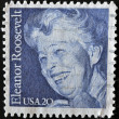 UNITED STATES - CIRCA 1984: stamp printed in USA shows Eleanor Roosevelt, circa 1984 — Stock Photo