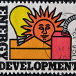 UNITED STATES OF AMERICA - CIRCA 1977 : A stamp printed in the USA dedicated to Energy Conservation, circa 1977 — Stock Photo