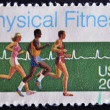 Stock Photo: UNITED STATES OF AMERIC- CIRC1983: stamp printed in USshows who run, physical fitness, circ1983