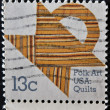 USA - CIRCA 1978: A stamp printed in the USA shows Folk Art USA Quilts, circa 1978 — Stock Photo