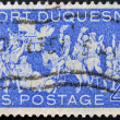 UNITED STATES - CIRCA 1958: stamp printed by Umited States, shows Occupation of Fort Duquesne, circa 1958 — Stok fotoğraf