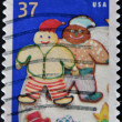 UNITED STATES - CIRCA 2005: A stamp printed in USA, shows cookie elves, circa 2005 — Stock Photo