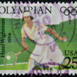UNITED STATES OF AMERICA - CIRCA 1990: A stamp printed in USA shows Hazel Wightman, 1924, circa 1990 — Stock Photo