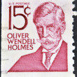 Stockfoto: UNITED STATES OF AMERIC- CIRC1968: stamp printed in United States of Americshows Oliver Wendell Holmes, poet and physician, circ1968