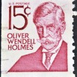 UNITED STATES OF AMERICA - CIRCA 1968: a stamp printed in the United States of America shows Oliver Wendell Holmes, poet and physician, circa 1968 — Stock Photo