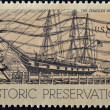 UNITED STATES OF AMERIC- CIRC1971: stamp printed in USshows charles w. morgan, historic preservation, circ1971 — Stock Photo #9445369