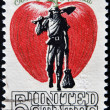 USA - CIRCA 1950: A stamp printed in USA shows image of the dedicated to the Johnny Appleseed circa 1950. — Stock Photo