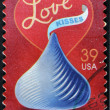 Stock Photo: UNITED STATES OF AMERIC- CIRC2007: stamp printed in USdedicated to love, circ2007