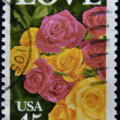 UNITED STATES OF AMERICA - CIRCA 1990: A stamp printed in USA shows image photo of beautiful roses, circa 1990 — Foto de Stock