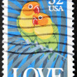Royalty-Free Stock Photo: UNITED STATES OF AMERICA - CIRCA 1993: A stamp printed in the USA showing parrots, circa 1993