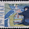 "UNITED STATES - CIRCA 1966: stamp printed by United States of America, shows picture ""The boating party"" by Mary Cassatt, circa 1966 — Stock Photo"