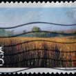 UNITED STATES OF AMERICA - CIRCA 2001: A stamp printed in UASA shows Nine-Mile Prairie, Nebraska, circa 2001 — Stock Photo