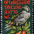 Stock Photo: UNITED STATES - CIRC1971: stamp printed in USshows partridge in pear tree, circ1971