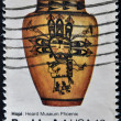 Stock Photo: US- CIRC1977 : stamp printed in USshows Hopi: Heard Museum Phoenuix, Pueblo Art, circ1977