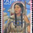 USA - CIRCA 1994 : Stamp printed in USA show Sacagawea, Shoshone woman who accompanied Lewis and William Clark in their exploration of Western USA, circa 1994 — Stock Photo