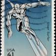 Stock Photo: UNITED STATES - CIRCA 2007: stamp printed in USA shows Silver Surfer, circa 2007