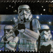 UNITED STATES - CIRCA 2007: stamp printed in USA shows Star Wars, Stormtrooper, circa 2007 - Stock Photo