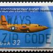 Stock Photo: UNITED STATES OF AMERIC- CIRC1997: stamp printed in UScommemorates 50th anniversary of supersonic flight, circ1997