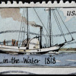 Stock Photo: UNITED STATES - CIRC1989: stamp printed in USshows Steamboat, walk in water, circ1989