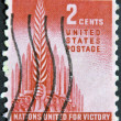 USA - CIRCA 1943: A Stamp printed in USA shows the Allegory of Victory, circa 1943 — Stock Photo
