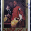 AJMAN - CIRCA 1968: A stamp printed in Ajman shows the — Stock Photo