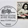 GERMANY- CIRCA 1979: stamp printed by Germany, shows Anne Frank, Nazi victim, circa 1979. - Stock Photo