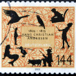 GERMANY - CIRCA 2005: A stamp printed in Germany dedicated to Hans Christian Andersen, circa 2005 — Stock Photo