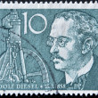 Stock Photo: GERMANY - CIRC1958: stamp printed in Germany shows Rudolf Diesel, circ1958