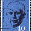 GERMANY - CIRCA 1960: a stamp printed in the Germany shows George C. Marshall, circa 1960 — Stock Photo