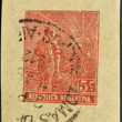 ARGENTINA - CIRCA 1938: A stamp printed in Argentina dedicated to agriculture, circa 1938 - Stock fotografie