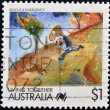 Stock Photo: AUSTRALI- CIRC1988: stamp printed in Australia, shows Cartoons, Rescue and emergency services, circ1988