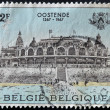 BELGIUM - CIRCA 1967: A stamp printed in Belgium shows palace in Ostend, circa 1967 — Stock Photo