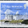 BERMUDA - CIRCA 1986: A stamp printed in Bermuda dedicated to 30th anniversary of first manned moon landing, circa 1986 — Stock Photo