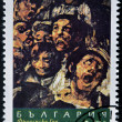 Stock Photo: BULGARIA - CIRCA 1996: A stamp printed in Bulgaria shows a picture of the black paint of Goya, circa 1996