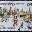 CAMBODIA - CIRCA 2000: A stamp printed in Cambodia dedicated to tourism, circa 2000 - Stock Photo