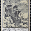 CZECHOSLOVAKIA - CIRCA 1976: A stamp printed in Czechoslovakia shows image of a sailing ship, circa 1976 — Stock Photo
