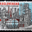 CZECHOSLOVAKIA - CIRCA 1960: A stamp printed in Czechoslovakia, shows Slovnaft - Chemical Industry Base Development, circa 1975 — Stock Photo