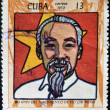 CUBA - CIRCA 1970: A stamp printed in Cuba shows Ho Chi Minh, circa 1970 — Stock Photo