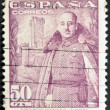 Royalty-Free Stock Photo: SPAIN - CIRCA 1940 : a stamp printed in  Spain shows image of Franco, circa 1940
