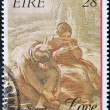 Stock Photo: IRELAND - CIRCA 1989: A stamp printed in Ireland dedicated the sonnet by William Mulready, love, circa 1989