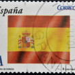 SPAIN - CIRCA 2009: A stamp printed in Spain shows flag, circa 2009 — Stock Photo